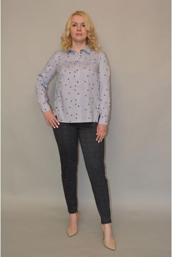 002. Блузка из Тонкого Джинса (50,52 размер)