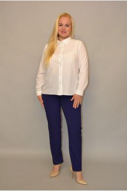 048. Блуза из ткани Индо Белая