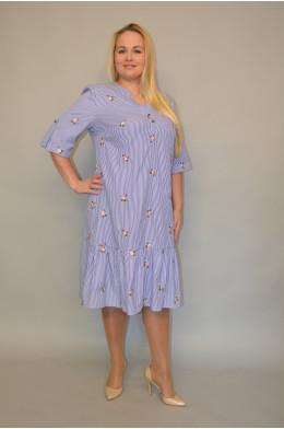 Модель 1000. Платье из Штапеля в полоску