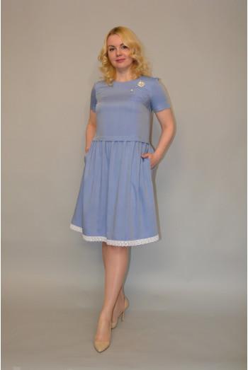1004. Платье из Джинсовой плательной ткани