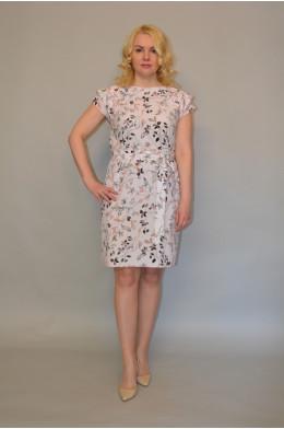 1019. Платье из ткани Индо