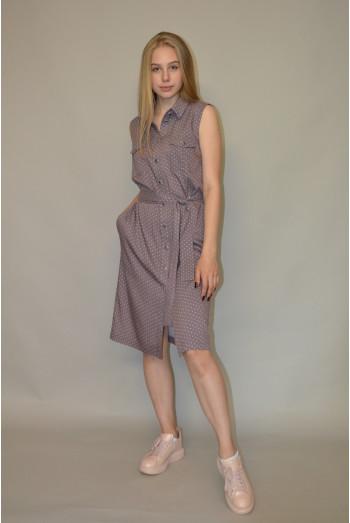 1038. Платье из летнего тонкого джинса