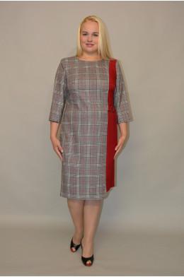 1045. Платье из Костюмной ткани в клетку