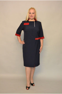1058. Платье из Костюмной ткани