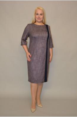 1061. Платье из Меланжевой ткани