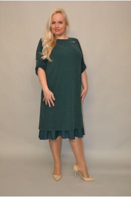 1082 Платье из Креп-стрейча с люрексом