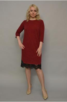 1100. Платье из Ангоры рубчик