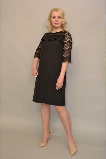 1103. Платье из Крепа и Гипюра