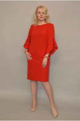 1106. Платье из Крепа  цвет Красный