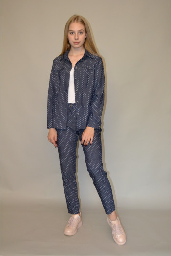 44. Жакет из тонкого джинса