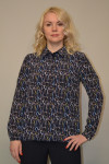 048. Блуза из ткани Индо