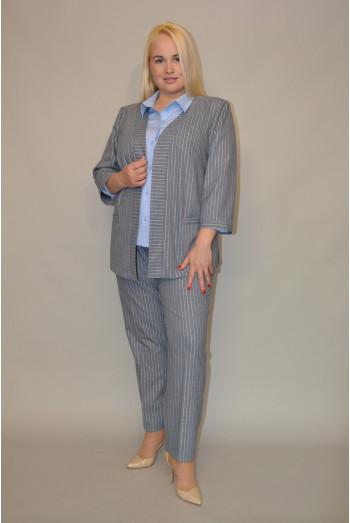 053. Жакет из костюмной ткани