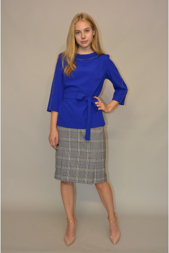 060. Блуза из костюмной ткани