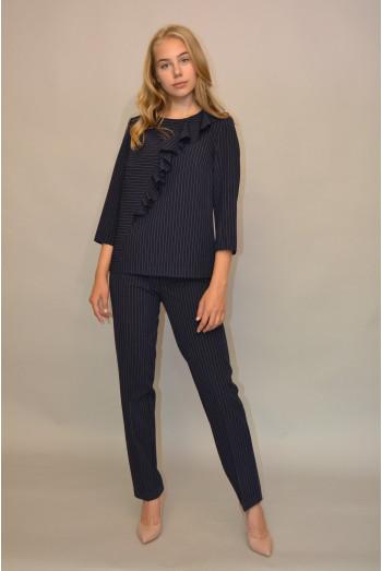 062. Блуза из костюмной ткани