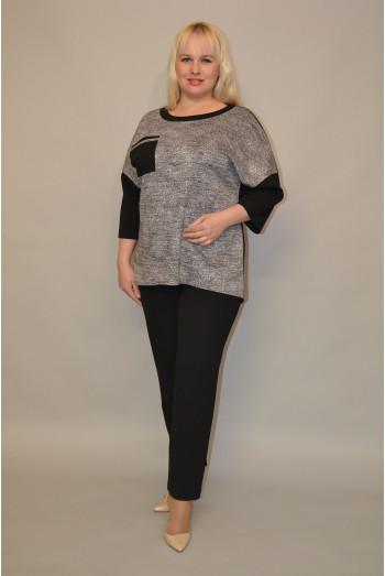 070. Блуза из Трикотажного полотна и Крепа