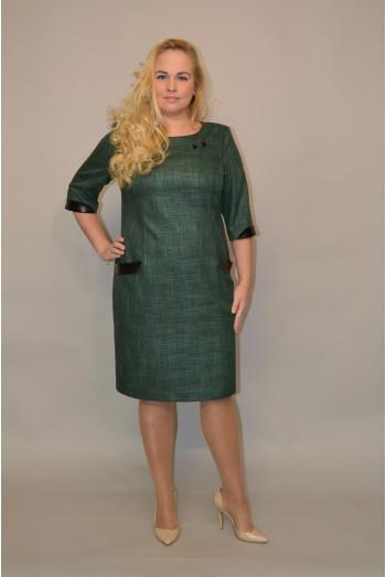 717. Платье из костюмной ткани цвет Зеленый