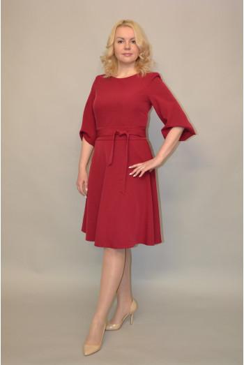 822. Платье из крепа цвет малина