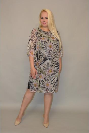 860. Платье из Шифона комбинированное