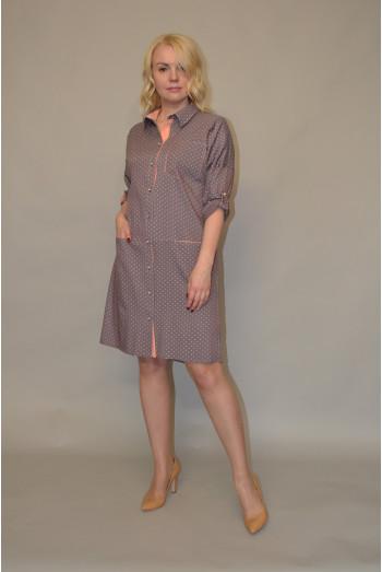 882/1. Платье из Тонкого джинса
