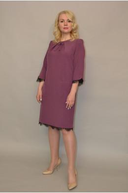 946/1. Платье из Костюмной ткани цвет Сирень