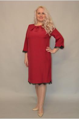 946/1. Платье из Костюмной ткани цвет Фуксия