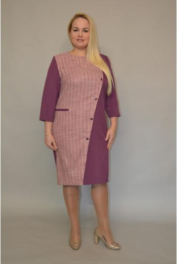 984. Платье Комбинированное из Костюмной ткани