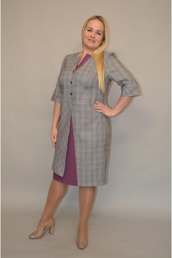 996. Платье комбинированное из костюмной ткани