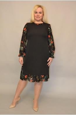 1110. Платье из Крепа и Шифона