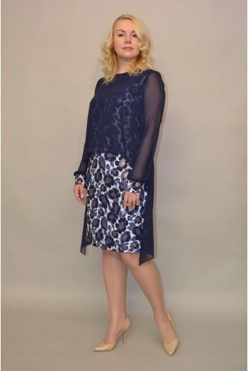 1119. Платье из Крепа и Шифона