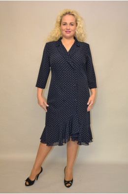 1162. Платье из ткани Креп