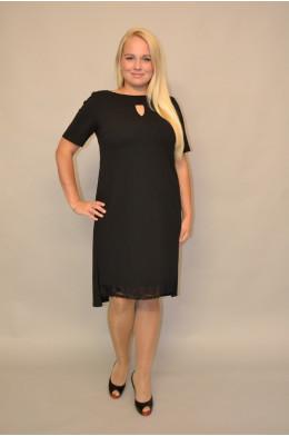733. Черное платье из Крепа