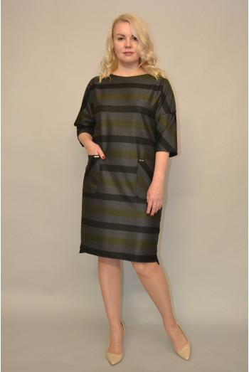 908. Платье из костюмной ткани