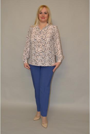 092. Блуза из ткани Индо