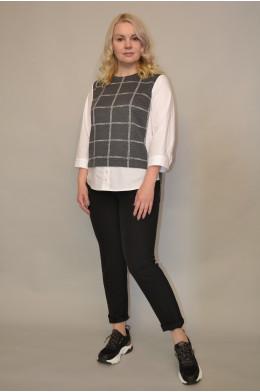 130. Блуза из Комбинированной ткани
