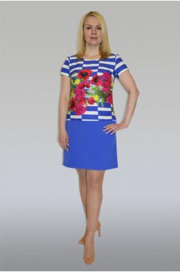 595. Платье из Купонной ткани дабл-Стрейч