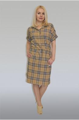 600. Платье-рубашка из Шелка