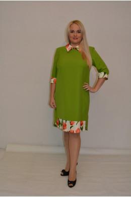 795. Платье Комбинированное из Крепа