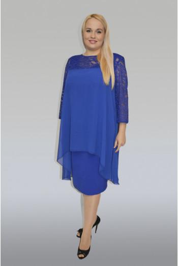 798. Костюм двойка: Блуза + Платье из Крепа и Шифона