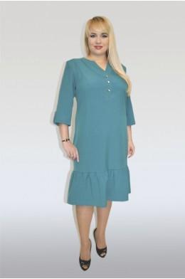 802. Платье поливискоза (Изумруд)