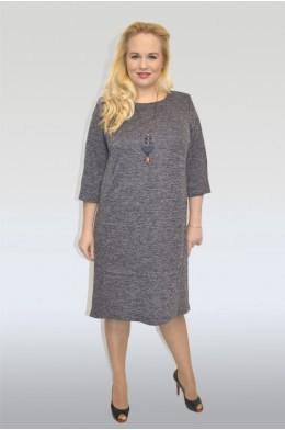 827. Трикотажное платье из ангоры темно-серое