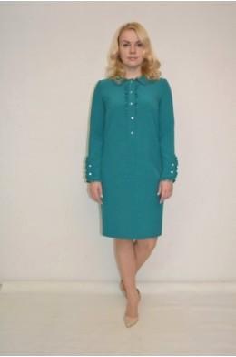 832. Платье и поливискозы цвета Изумруд