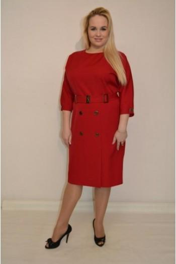 837. Платье из костюмной ткани Бордо