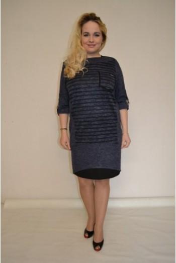 840.  Платье из ангоры цвет Серо-Синий