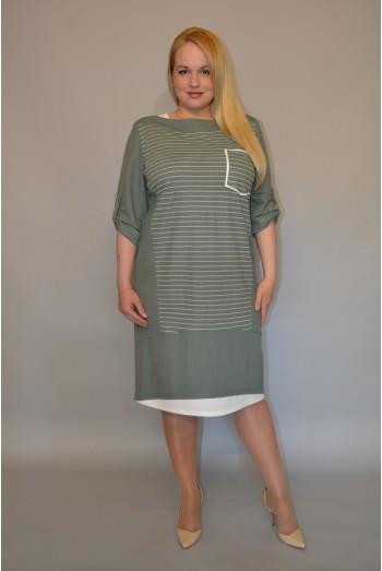 840/1.  Платье из оливковой вискозы