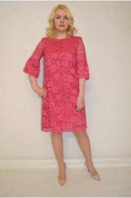 845. Платье из гипюра и ткани Инда