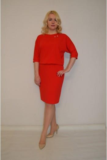 846. Красное платье из Дабл-стрейч