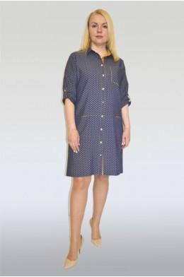 882. Платье из Джинса цвет темно-синий