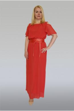 884. Платье из шифона с трикотажной подкладкой