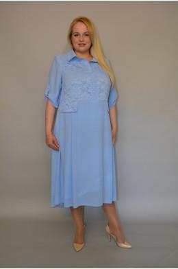 890. Платье из Креп-шифона и Гипюра