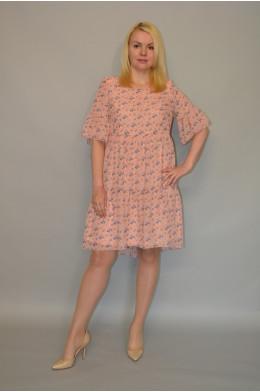 891. Платье из Шифона с трикотажной подкладкой
